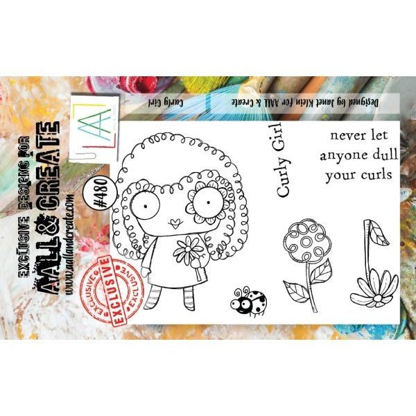 AALL & Create Clearstamps A7 No. 480 Curly Girl