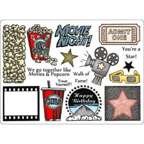 Creative Expressions Stamp Plate Movie Night