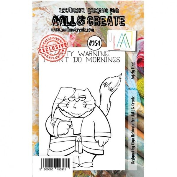 AALL & Create Clearstamps A7 No. 254 Safety First
