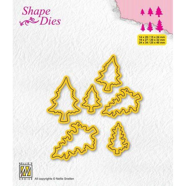 Nellie´s Choice Shape Dies Mini Dies Pine Trees No. 2