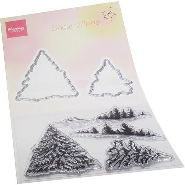 Marianne D Clearstamps & Dies Tiny´s Snowy Village