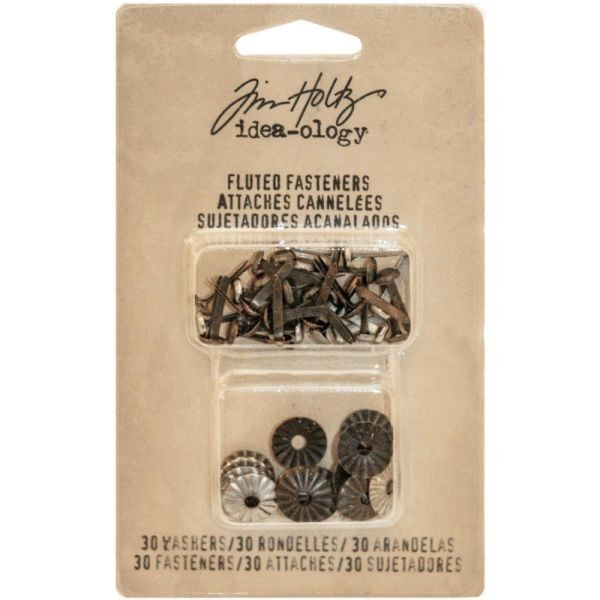 Tim Holtz Idea-Ology Fluted Fasteners