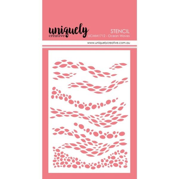 Uniquely Creative Stencils 4x6 Ocean Waves