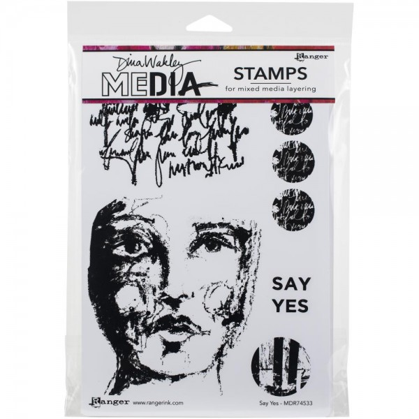 Dina Wakley Media Clingstamps Say Yes