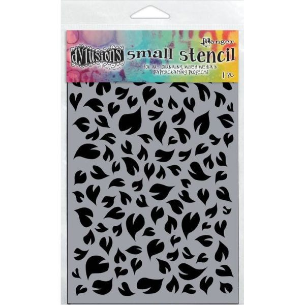 Dylusions Stencils 5x8 Leaves Small