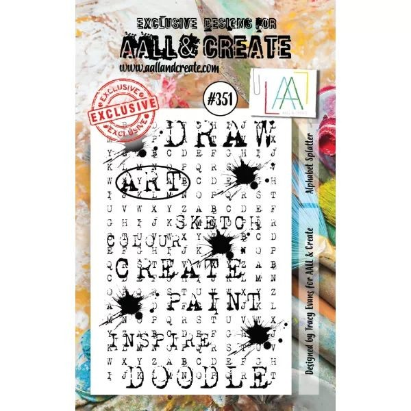 AALL & Create Clearstamps A7 No. 351 Alphabet Splatter