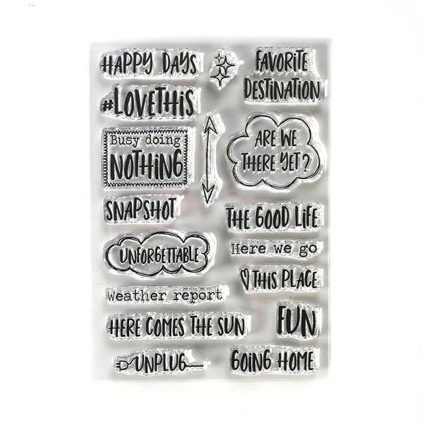 Elisabeth Craft Designs Clearstamps Destination Phrases