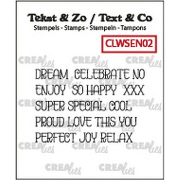 CreaLies Bits & Pieces Clearstamps Word Strips Dreams