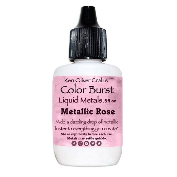 Ken Oliver Crafts Color Burst Liquid Metals Metallic Rose