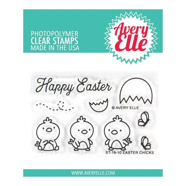 Avery Elle Clearstamps Easter Chicks