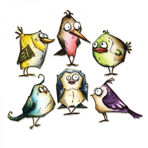 Sizzix Tim Holtz Alterations Thinlits Birds Crazy