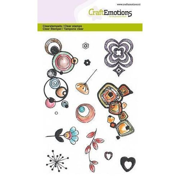 Craft Emotions Clearstamps Retro Prints