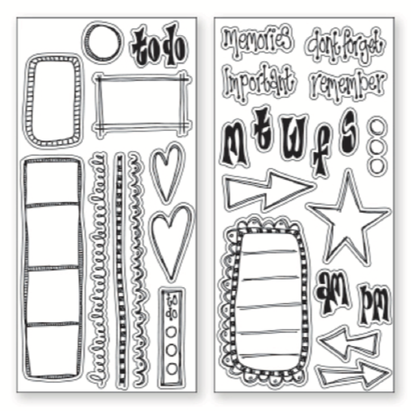 Dylusions Creative Dyary Stamp Set No. 2