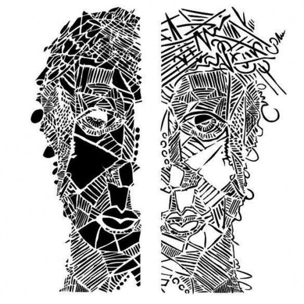 13arts Mixed Media Stencil Face