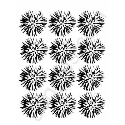 Joggles Stencil Flower Blossoms
