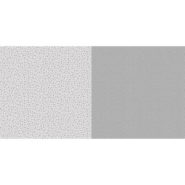 Dini Design Scrapbook-Papier Punkte & Blumen Steingrau