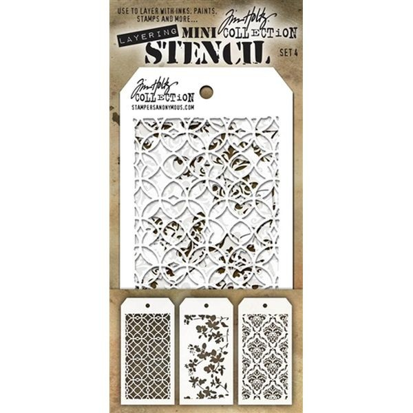 Tim Holtz Mini Stencil Set 004
