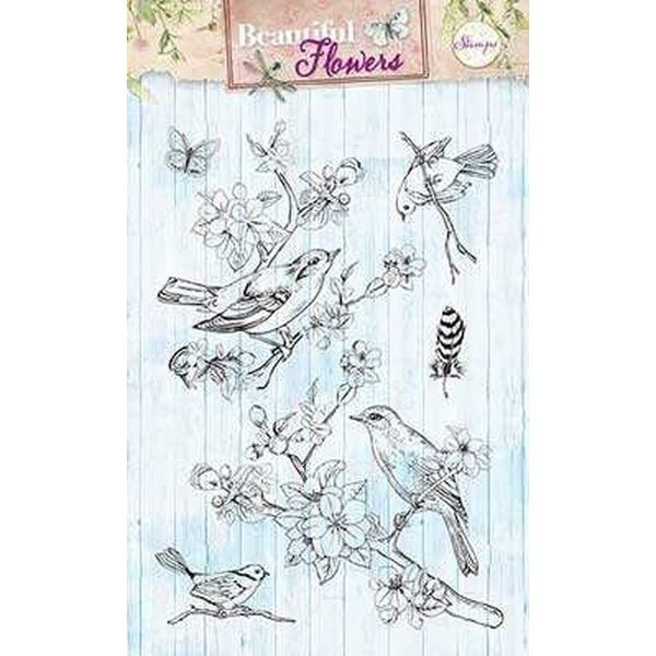 Studio Light Clearstamps A6 Beautiful Flowers 140