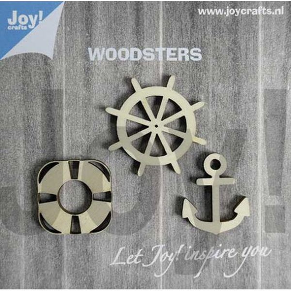 Joy! Crafts Woodsters Anchor, Life Belt, Steering Wheel