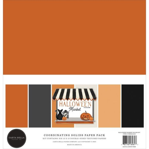 Carta Bella Halloween Market Coordinating Solids Paper Pack