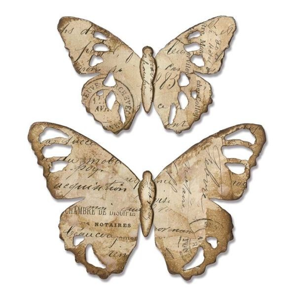Tim Holtz Alterations Bigz Tattered Butterfly