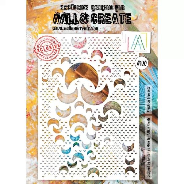 AALL & Create Stencil A4 No. 120 Crush On Crescents