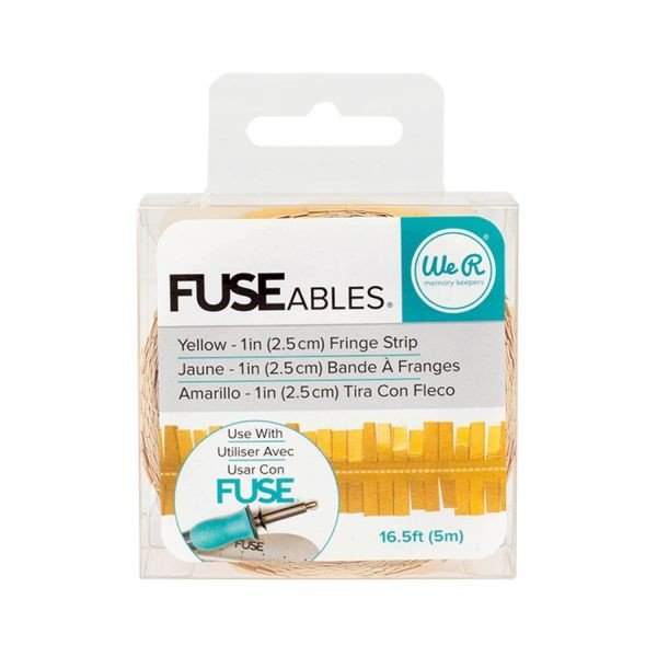 WeR Memory Keepers FUSEables Fringe Strip Yellow