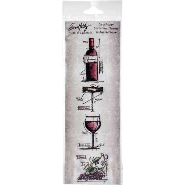 Tim Holtz Mini Blueprint Strip Wine