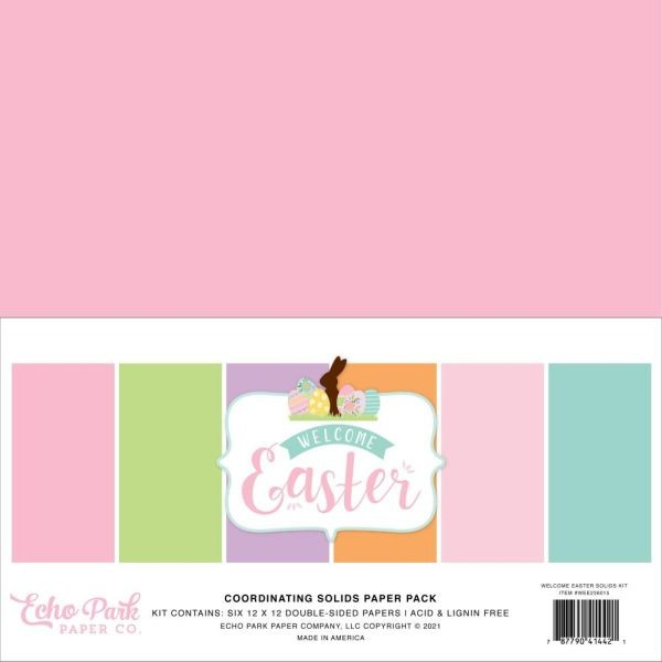 Echo Park Welcome Easter Coordinating Solids Paper Pack