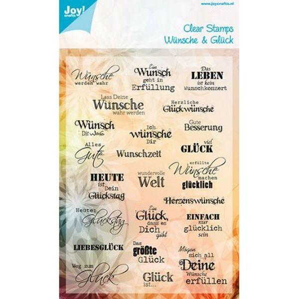 Joy! Crafts Clear Stamps Noor Design Wünsche & Glück