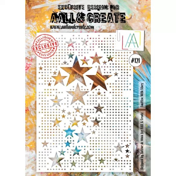 AALL & Create Stencil A4 No. 121 Smitten with Stars