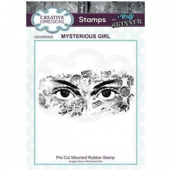 Andy Skinner Rubberstamp Mysterious Girl