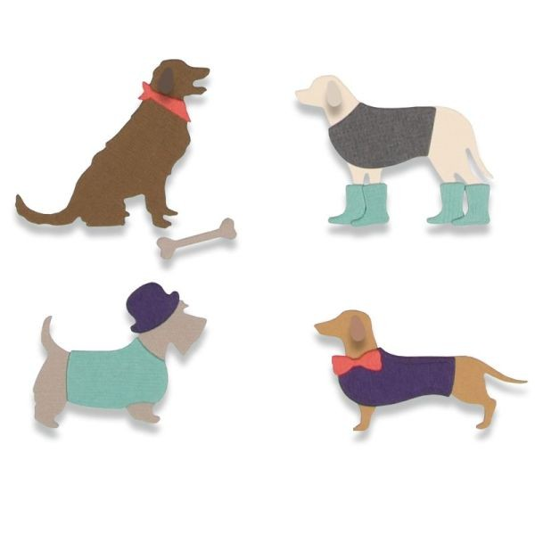 Sizzix Thinlits Die Country Canines
