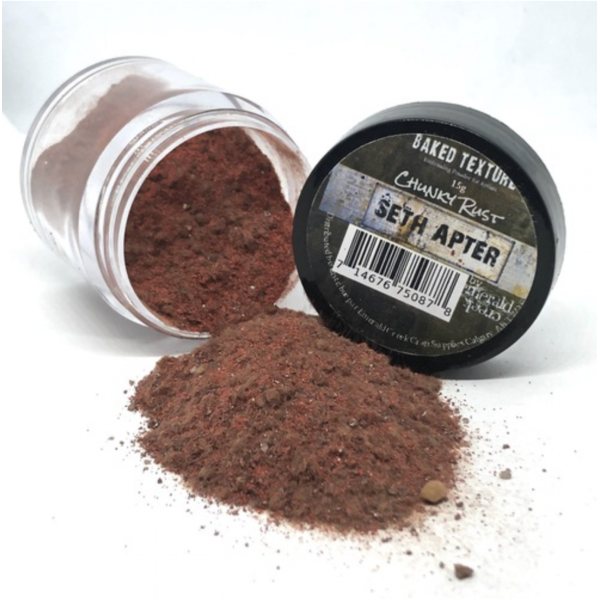 Seth Apter Baked Texture Embossing Powder Chunky Rust