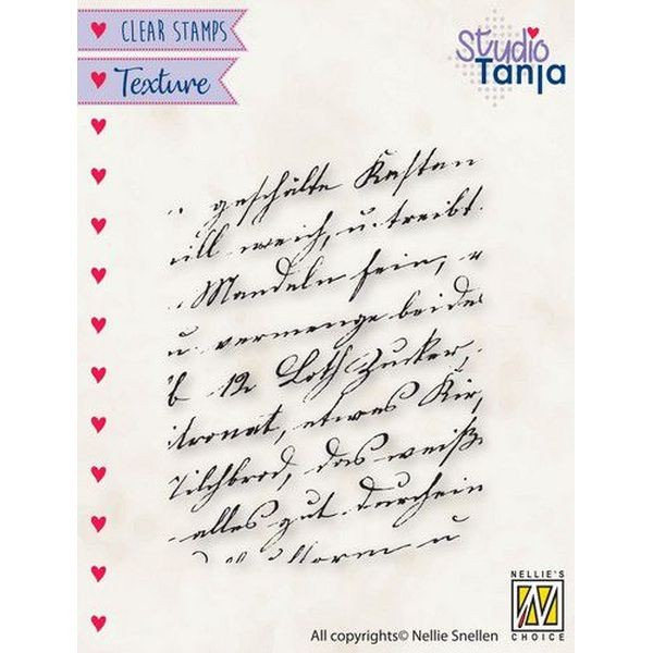 Nellie´s Choice Texture Clearstamp Writing