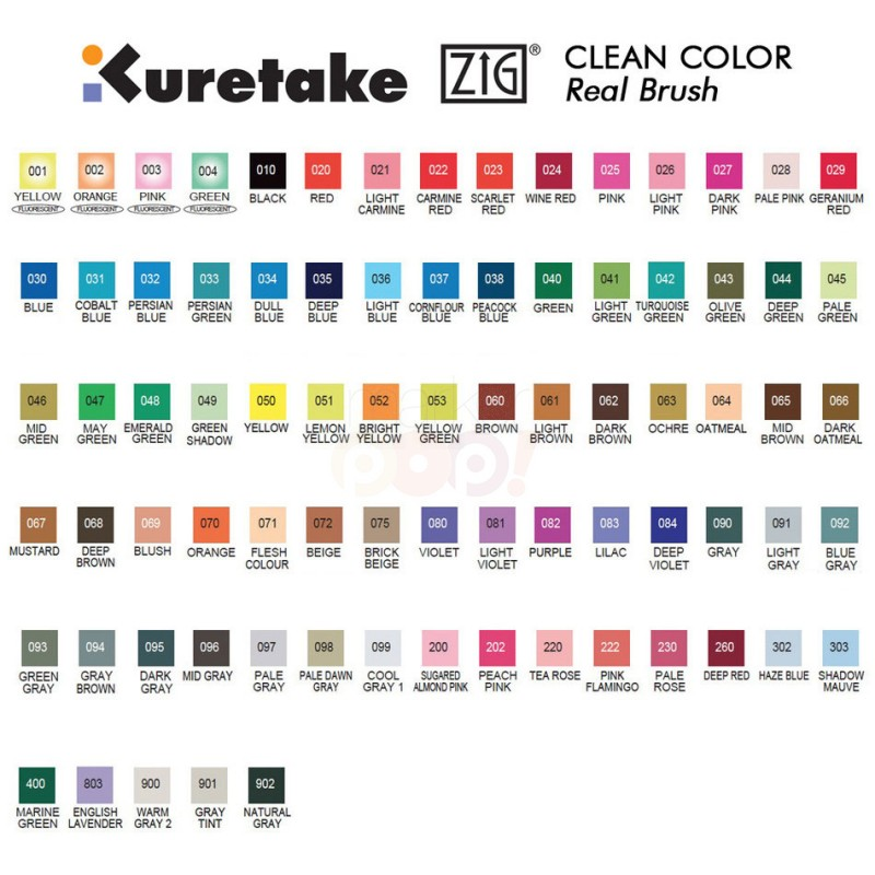ZIG-CleanColorRealBrush_ColorChart
