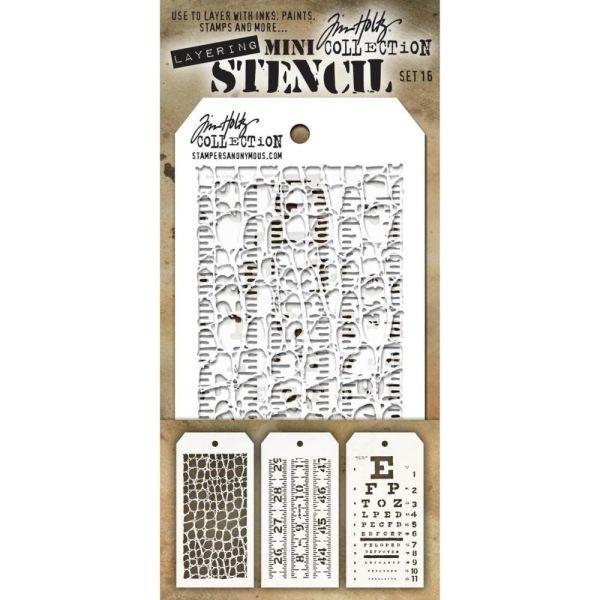Tim Holtz Mini Stencil Set 016