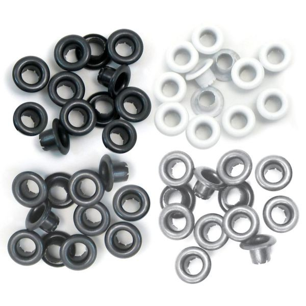 "WeR Memory Keepers Eyelets Standard 3/16"" Gray"