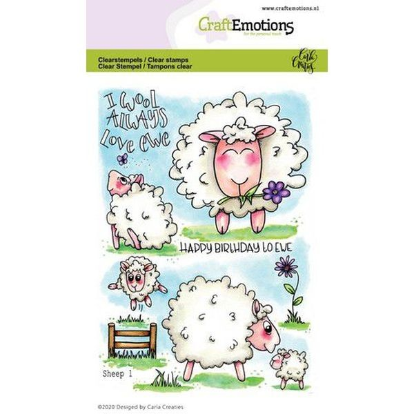 Craft Emotions Clearstamps Sheep I