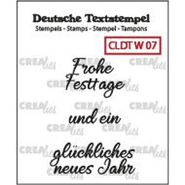 CreaLies Text Clearstamps Frohe Weihnachten 07