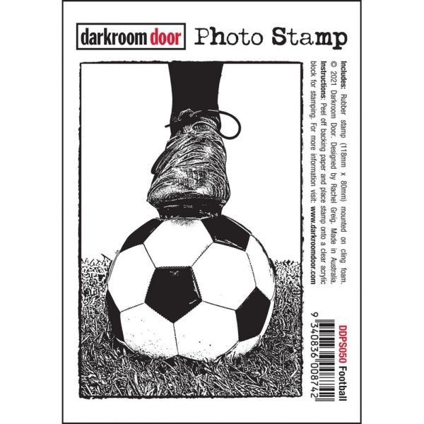 Darkrrom Door Photo Clingstamp Football