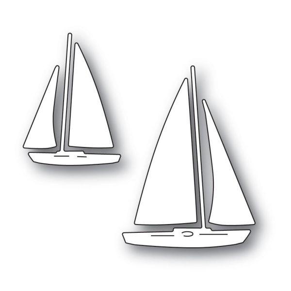 Memory Box Craft Die Marina Sailboats