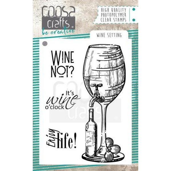 Coosa Crafts Clearstamps A7 Wine Setting