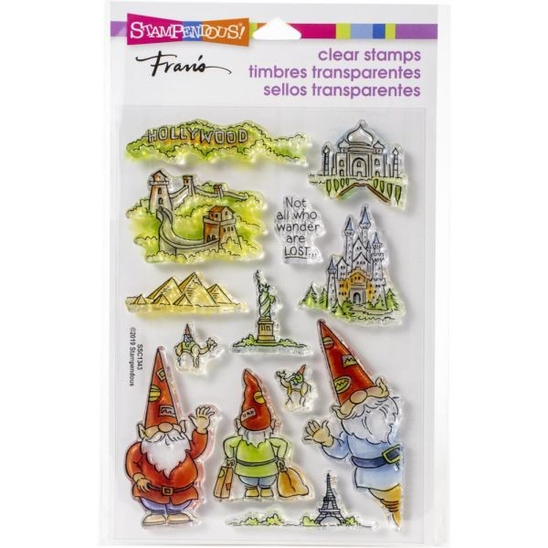 Stampendous Fran´s Clearstamps Gnome Travel