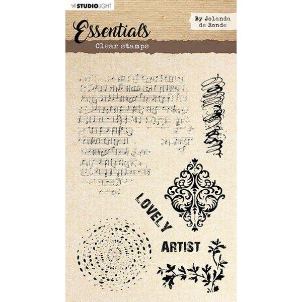 Studio Light Essentials Clearstamps A5 by Jolanda de Ronde No. 01