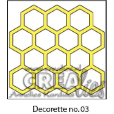 CreaLies Decorette No. 03 Honeycomb
