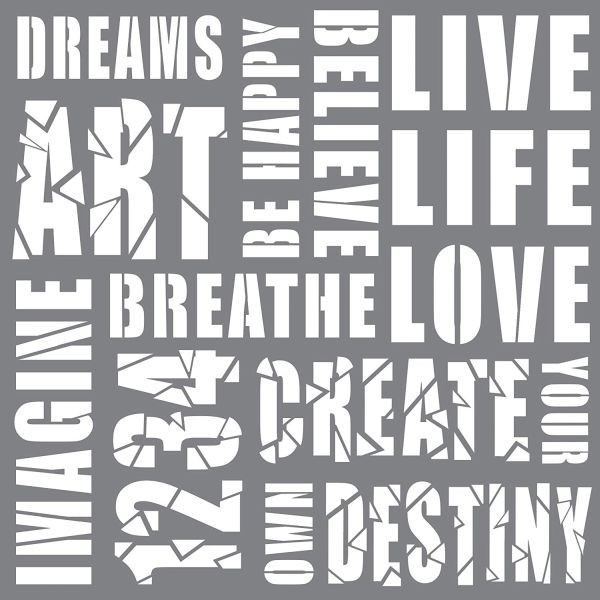 Andy Skinner Stencil 8x8 Creativity