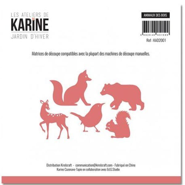 Les Ateliers de Karine Die Jardin d´Hiver Animaux des Bois