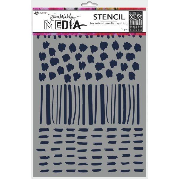 Dina Wakley Media Stencil Marks