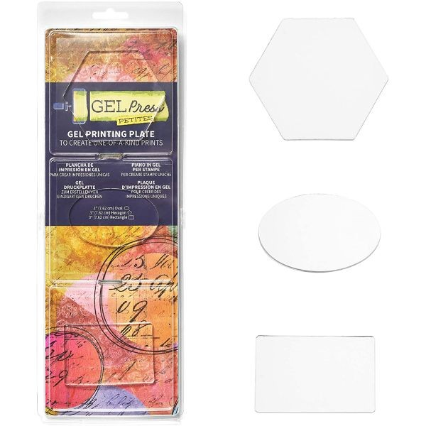 Gel Press Gel Plate Petites Hexagon, Oval & Rectangle